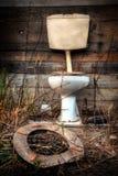 Alte Toilette Stockfoto