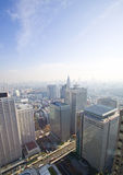 Alte torrette della città di aumento di Tokyo Fotografia Stock
