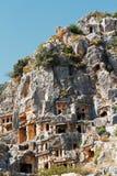 Alte tote Stadt in Myra Demre Turkey Stockfoto