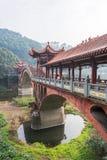 Alte traditionelle Brücke Leshans - Chengdus - Zhuoying Stockbild
