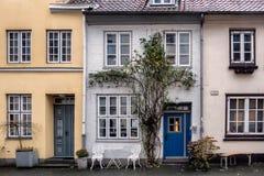 Alte traditionelle Häuser in LÃ-¼ Kessel Stockbild