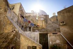 Alte traditionelle italienische Architektur auf Procida-Insel, Italien lizenzfreies stockfoto