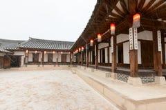 Alte traditionelle koreanische Häuser Lizenzfreie Stockfotografie