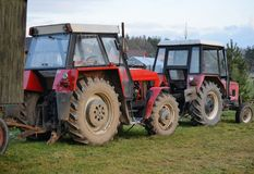 Alte Traktoren Tschechen Zetor Stockfotos