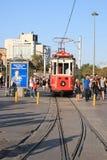 Alte Tram auf Taksim-Quadrat Lizenzfreies Stockbild