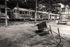 Alte Tram-Halle lizenzfreie stockfotos