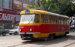 Alte Tram Odessa Lizenzfreie Stockfotografie