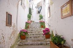 Alte Treppe in Amalfi Italien Stockfotografie