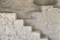 Alte Treppe in der Höhle Lizenzfreies Stockbild