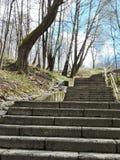 Alte Treppe, Litauen Lizenzfreies Stockbild