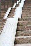 Alte Treppe und der Boden Stockfotos
