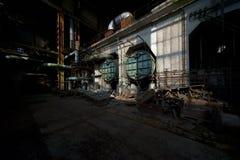 Alte Triebwerkanlage stockfotos