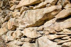 Alte Trockenmauerhintergrundzusammensetzung Lizenzfreies Stockbild