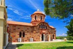 Alte typische griechische Kirche auf Rhodos-Insel, Griechenland Lizenzfreies Stockbild