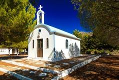 Alte typische griechische Kirche auf Rhodos-Insel, Griechenland Stockfotografie