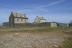 Alte typische Häuser in West-Normandie Stockbilder
