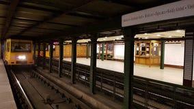 Alte U-Bahn Budapests Stockfoto