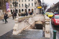 Alte U-Bahnstation in Budapest Stockbilder