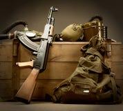 Alte UDSSR-militärische Ausrüstung Lizenzfreie Stockfotos