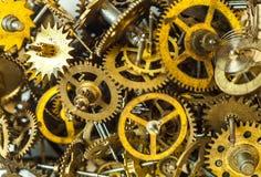 Alte Uhr übersetzt Hintergrund Stockbild