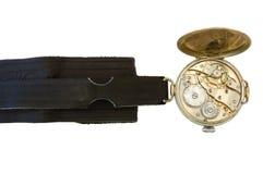 Alte Uhr. stockbilder