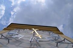 Alte Uhr auf dem Turm des Palastes in Kromeriz, Tschechische Republik Lizenzfreie Stockbilder
