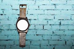Alte Uhr auf der Wand, Innengegenstand Lizenzfreies Stockbild