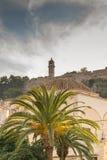 Alte Uhr auf einen Hügel bei Nafplio in Griechenland Lizenzfreie Stockbilder