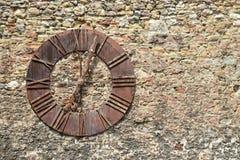 Alte Uhr entfernt von Zagreb-Kathedrale, Zagreb, Kroatien Lizenzfreie Stockfotografie