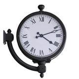 Alte Uhr mit Wandmontage Stockfotos
