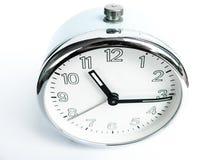 Alte Uhr mit Warnung Stockbilder