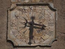 Alte Uhr in Roussillon, Frankreich Lizenzfreies Stockfoto