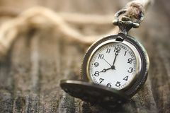Alte Uhr-Zeit 8 10,00 morgens Lizenzfreies Stockbild