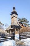 Alte ukrainische hölzerne Kirche Lizenzfreies Stockfoto