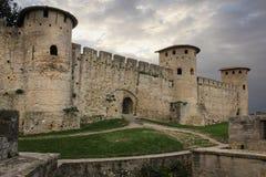 Alte ummauerte Zitadelle Römische Türme Carcassonne frankreich Lizenzfreie Stockfotos