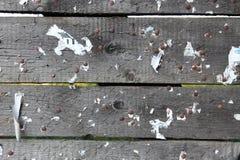 Alte unbelegte Tablette des Holzes mit alten Nägeln Lizenzfreies Stockfoto
