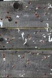Alte unbelegte Tablette des Holzes mit alten Nägeln Lizenzfreie Stockfotografie