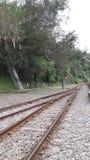 Alte unbenutzte Eisenbahnlinien Stockbild