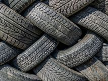 Alte und abgenutzte Reifen Lizenzfreies Stockbild