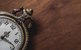 Alte und antike Taschenuhr Lizenzfreies Stockfoto