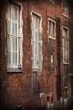 Alte und durty Backsteinmauer Stockfoto