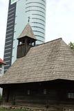 Alte und moderne Architektur Stockbild
