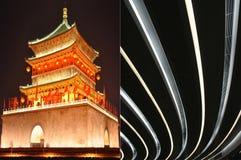 Alte und moderne Architektur Lizenzfreie Stockfotos
