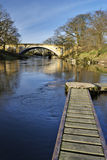Alte und moderne Brücken Lizenzfreies Stockfoto