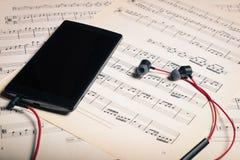 Alte und moderne Musik Stockbild