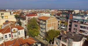 Alte und neue Architektur des alten Pomorie, Bulgarien Lizenzfreie Stockfotos