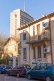 Alte und neue Architektur des Bulgaren Bourgas Lizenzfreies Stockfoto
