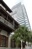 Alte und neue Architektur Hong Kong Lizenzfreies Stockfoto