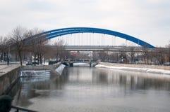 alte und neue Brücke Lizenzfreies Stockfoto