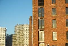 Alte und neue Gebäude Stockbilder